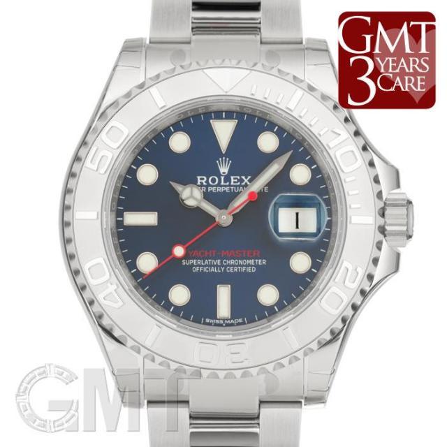 ロレックス ヨットマスター 40 ロレジウム 116622 ブルー ROLEX 未使用品 メンズ  腕時計  送料無料  未使用品/保護テープつき
