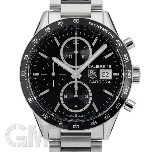 タグ・ホイヤー カレラ クロノグラフ キャリバー16 ブラック CV201AJ.BA0715 TAG HEUER 中古 メンズ  腕時計  送料無料