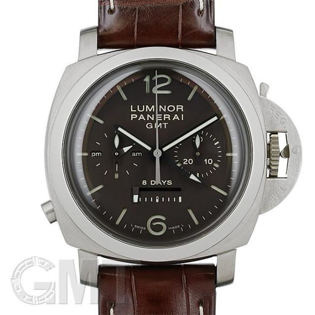 オフィチーネ パネライ ルミノール1950 8Days モノプルサンテ GMT PAM00311 OFFICINE PANERAI 中古 メンズ  腕時計  送料無料