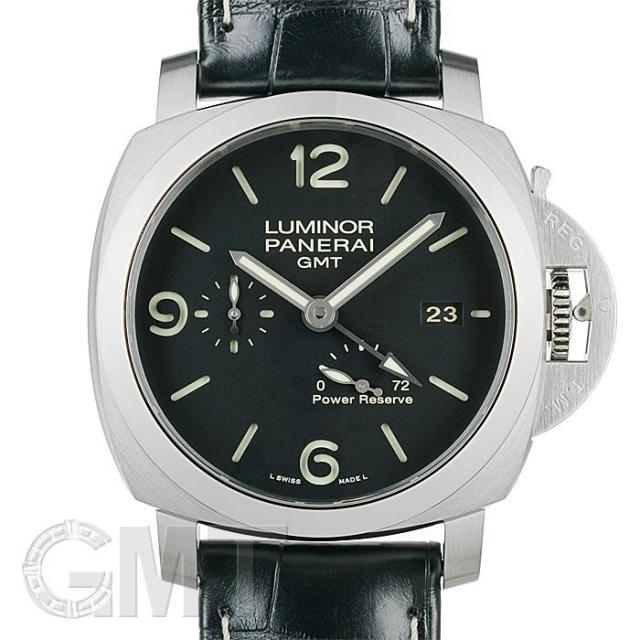 パネライ ルミノール 1950 3DAYS GMT パワーリザーブ 44mm PAM00321 OFFICINE PANERAI 中古 メンズ  腕時計  送料無料