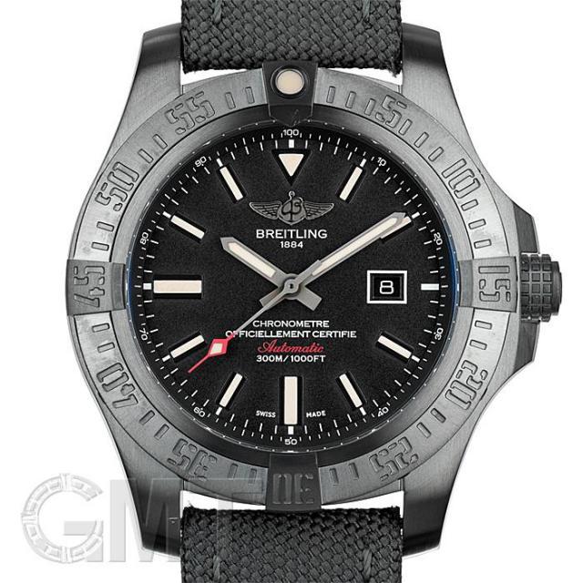 ブライトリング アベンジャー ブラックバード 48mm TI/グレーナイロンストラップ V173B12MMA BREITLING 中古 メンズ  腕時計  送料無料  あす楽_年中無休