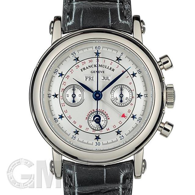 フランクミュラーラウンド マスターカレンダー クロノグラフ ホワイトゴールド スターダイヤル 7000CCMC 0G FRANCK MULLER 中古 メンズ  腕時計  送料無料