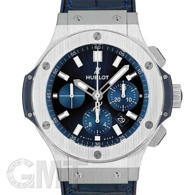 ウブロ ビッグバン スチール 44mm ブルー 301.SX.7170.LR HUBLOT 中古 メンズ  腕時計  送料無料