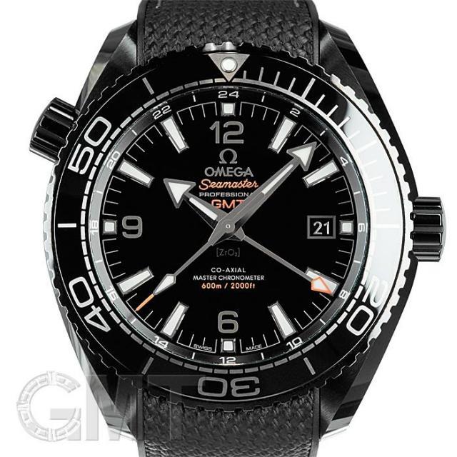 オメガ シーマスター プラネットオーシャン 600M マスター クロノメーター GMT ディープブラック OMEGA 中古 メンズ  腕時計  送料無料  あす楽_年中無休