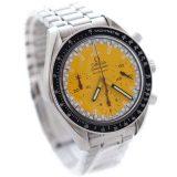 OMEGA オメガ スピードマスター シューマッハ 限定モデル 腕時計 メンズ 自動巻き イエロー文字盤 シルバー 3510.12 オーバーホール済み 新品仕上げ済み 中古