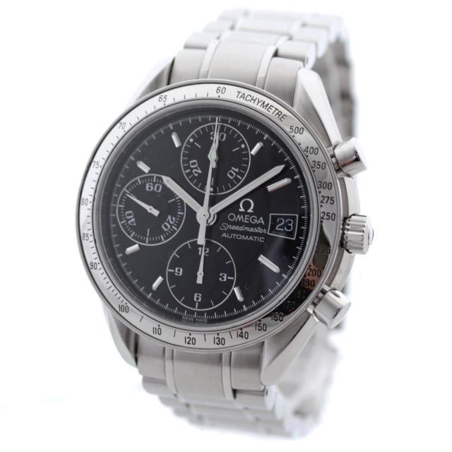 OMEGA オメガ スピードマスター デイト 腕時計 メンズ 自動巻き ブラック文字盤 シルバー 3513.50 オーバーホール済み 新品仕上げ済み  中古