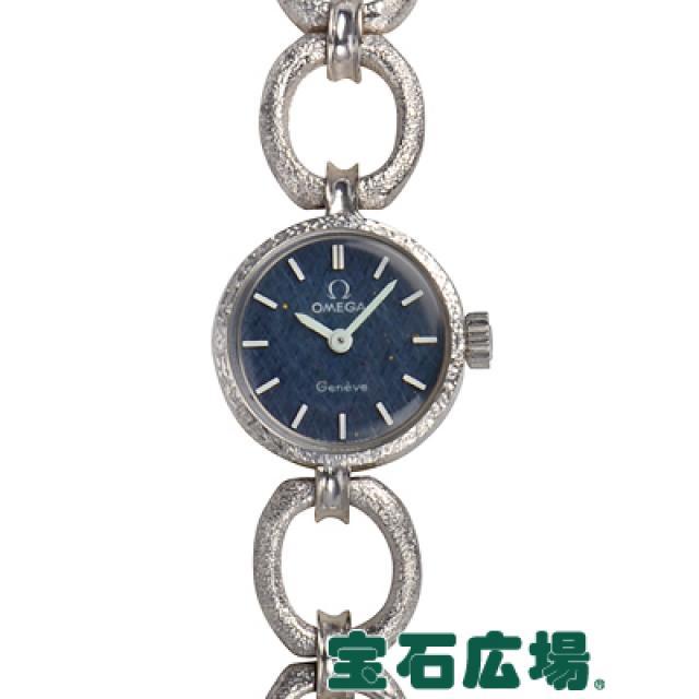 オメガ ラウンド 中古 レディース ホワイトゴールド 腕時計 送料・代引手数料無料
