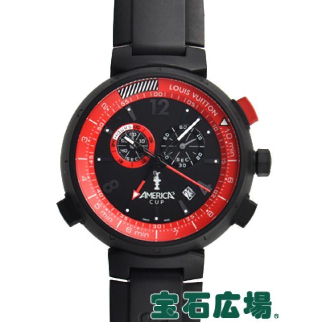 ルイ・ヴィトン タンブールクロノグラフ アメリカズカップ 世界1851本限定 Q101A 中古 メンズ 腕時計