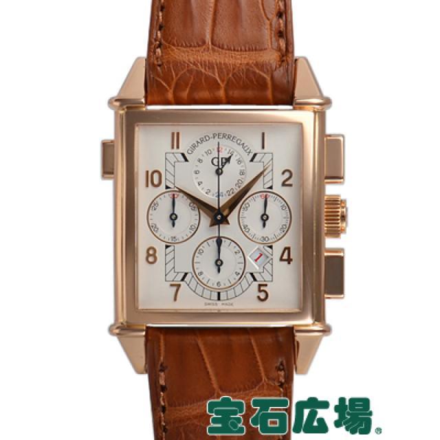 ジラール・ペルゴ ヴィンテージ1945 クロノグラフGMT 25975-52-111 中古 メンズ 腕時計 送料・代引手数料無料