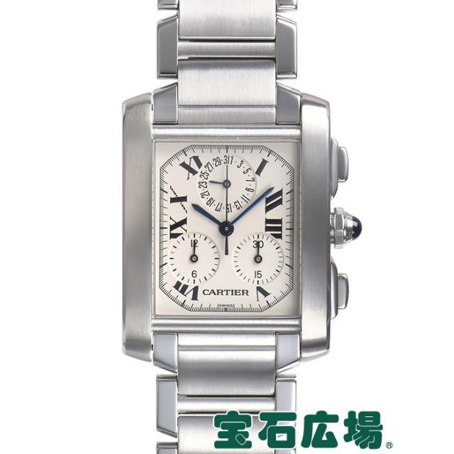 カルティエ タンクフランセーズ クロノリフレックス W51001Q3 中古 メンズ 腕時計