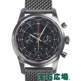 ブライトリング トランスオーシャンユニタイム パイロットブラックスチール 世界限定1000本 M051B80OCB 中古 メンズ 腕時計