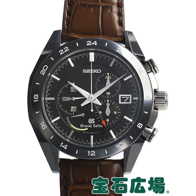 セイコーグランドセイコーブラックセラミックスリミテッドコレクション9RクロノGMT世界限定500本SBGC015 中古 メンズ 腕時計