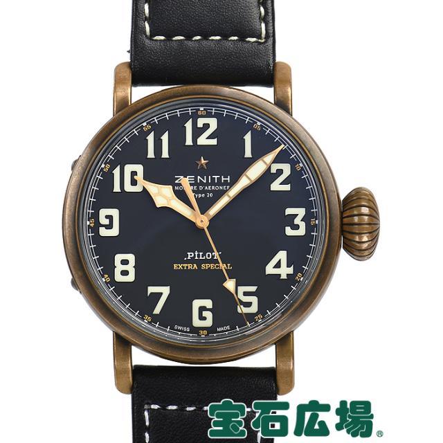 ゼニス パイロット タイプ20エクストラスペシャルブロンズ 29.2430.679/21.C753 中古 メンズ 腕時計 送料・代引手数料無料