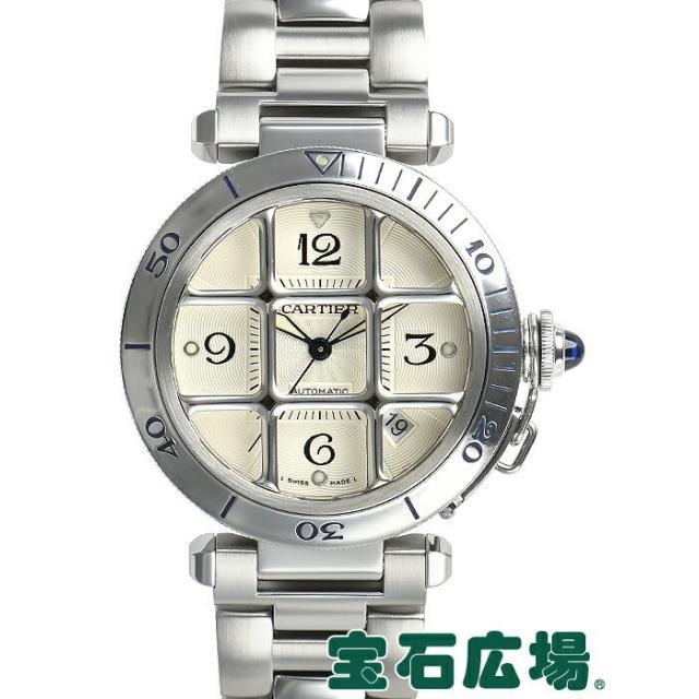 カルティエ CARTIER パシャ38 グリッド W31040H3 中古 メンズ 腕時計 送料・代引手数料無料