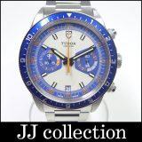 チュードル メンズ腕時計 ヘリテイジクロノ Ref.70330B SS 自動巻き ブルー・オレンジ・グレー文字盤 ナイロンストラップ付属 2013年新作・復刻モデル 中古 [ic]