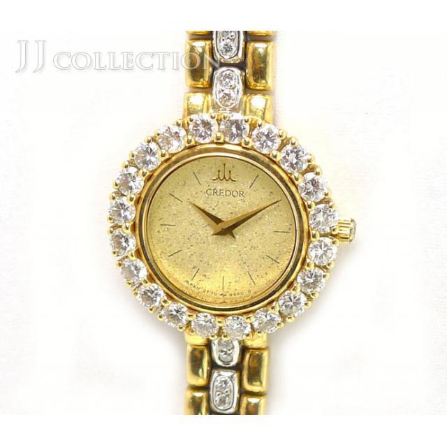 SEIKO セイコー クレドール レディースウォッチ 2F70-0120 K18YG 腕時計 中古