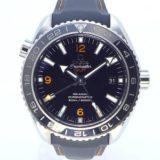 オメガ メンズ腕時計 プラネットオーシャン GMT クロノメーター 600m防水 自動巻き SS/ラバー 232.22.44.22.01.002 ブラック文字盤 中古