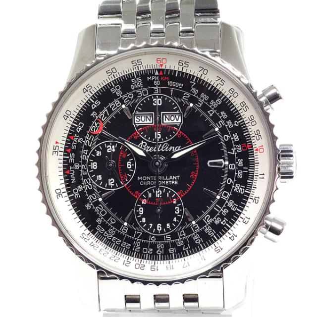 BREITLING ブライトリング メンズ腕時計 モンブリラン ダトラ A21330 ブラック文字盤 中古