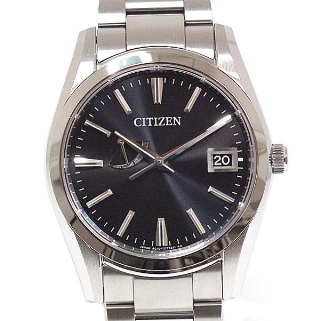 CITIZEN シチズン メンズ腕時計 ザ・シチズン エコドライブ A010-T017983 パーペチュアルカレンダー ソーラー ブラック文字盤 中古