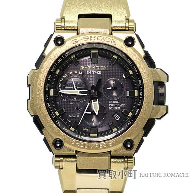 カシオ CASIO G-SHOCK MT-G Gショック 限定モデル GPSハイブリッド電波ソーラー時計 パラサイトカラー ステンレススチール メタルブレス メンズウォッチ 腕時計 MTG-G1000RG-1AJR Sランク 新品同様 中古 未使用品