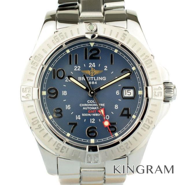 ブライトリング BREITLING Ref.A32350 コルトGMT OH済 自動巻 メンズ 腕時計 rke 中古