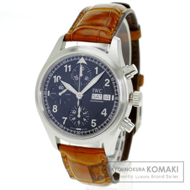 IWC インターナショナルウォッチカンパニー IW370613 スピットファイア メカニカルフリーガー 腕時計 ステンレススチール/革 メンズ 中古