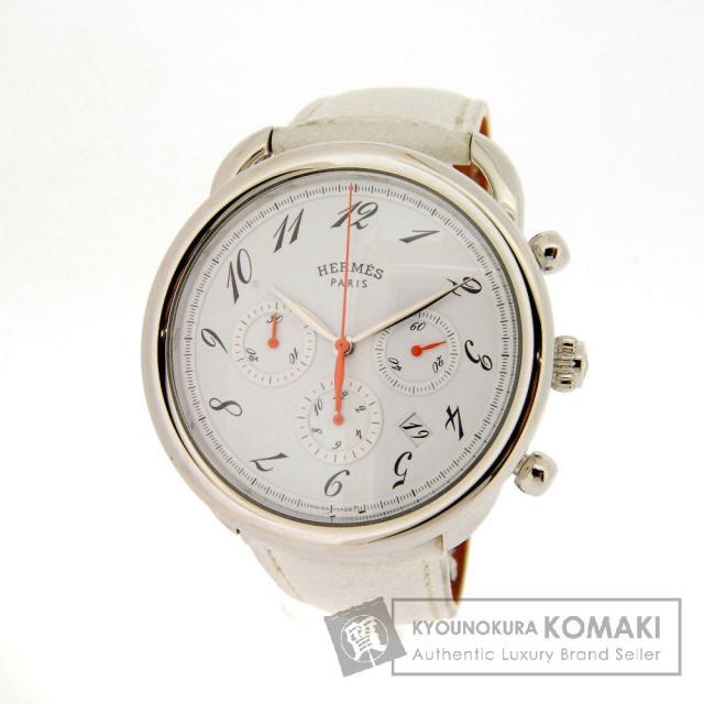 HERMES エルメス アルソー 腕時計 OH済 ステンレススチール/レザー メンズ 中古