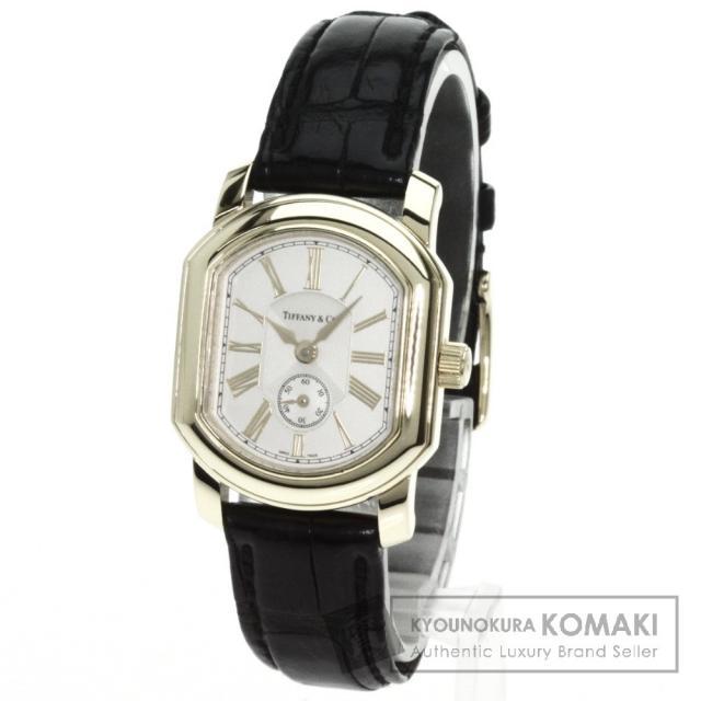 TIFFANY&Co. ティファニー マーククーペ 腕時計 K18イエローゴールド/アリゲーター レディース 中古