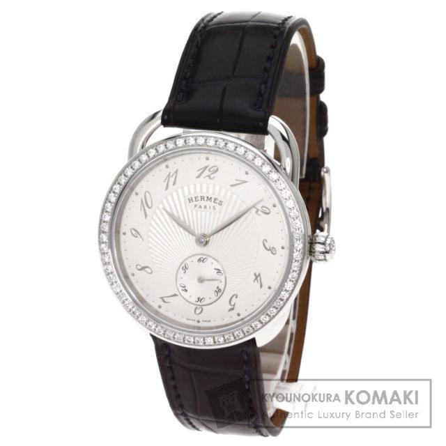 HERMES エルメス AR6.630 アルソー 腕時計 ステンレス/アリゲーター メンズ 中古