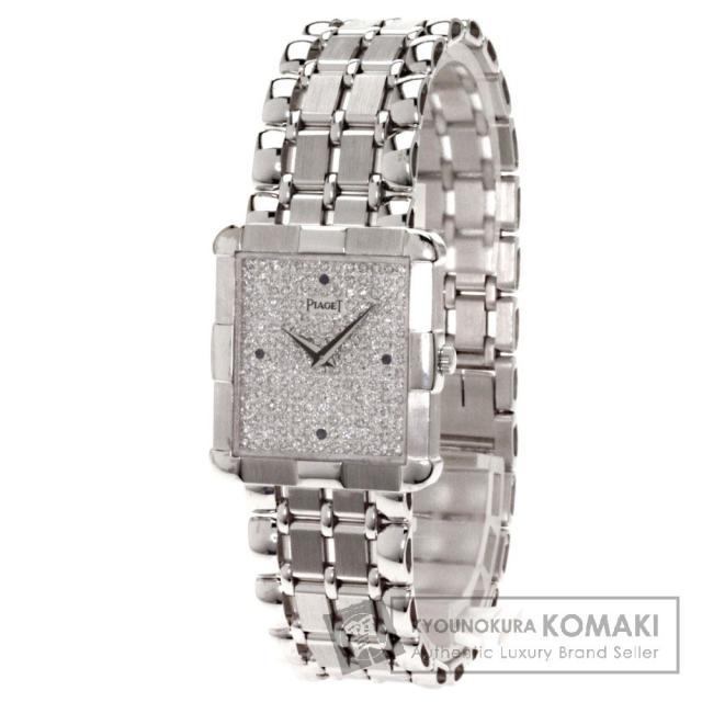 PIAGET ピアジェ 4Pサファイヤ 文字盤ダイヤモンド 腕時計 K18ホワイトゴールド/K18WG メンズ 中古