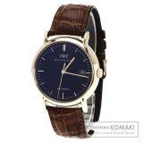 IWC IW353318 ポートフィノ 腕時計 OH済 K18ピンクゴールド/アリゲーター メンズ 中古 インターナショナルウォッチカンパニー