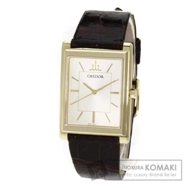 SEIKO8J81-0AL0 GBAR014 クレドール シグノ 腕時計 K18イエローゴールド/アリゲーター メンズ 中古 セイコー