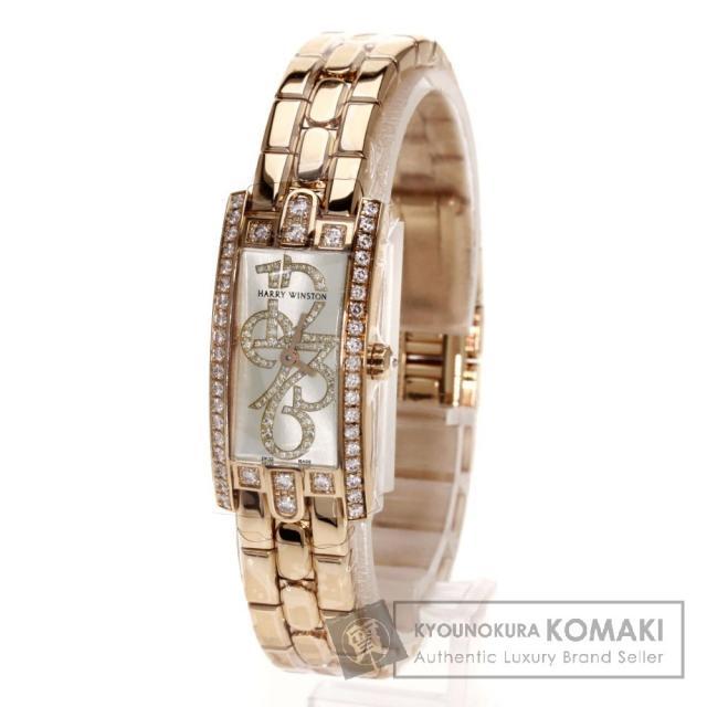 HARRY WINSTON332LQR アヴェニューC ミニ ダイヤモンド 腕時計 K18イエローゴールド/K18YG/ダイヤモンド レディース 中古 ハリーウィンストン
