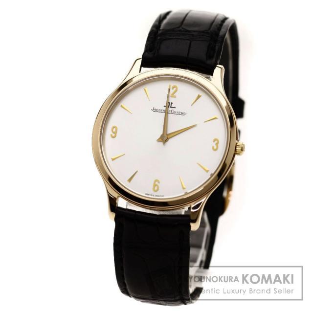 JAEGER-LECOULTRE マスターウルトラスリム 腕時計 OH済 K18ピンクゴールド/クロコダイル メンズ 中古 ジャガー・ルクルト