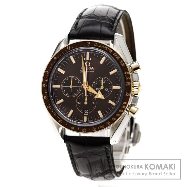 OMEGA Ref.321.93.42.50.13.001 スピードマスター ブロードアロー 腕時計 OH済 ステンレス/アリゲーター メンズ 中古 オメガ