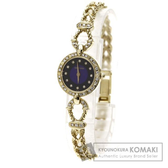 WALTHAM ダイヤモンド 腕時計 K18イエローゴールド/K18YG レディース 中古 ウォルサム