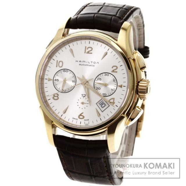 HAMILTON H32646555 ジャズマスター 腕時計 OH済 GP/レザー メンズ 中古 ハミルトン