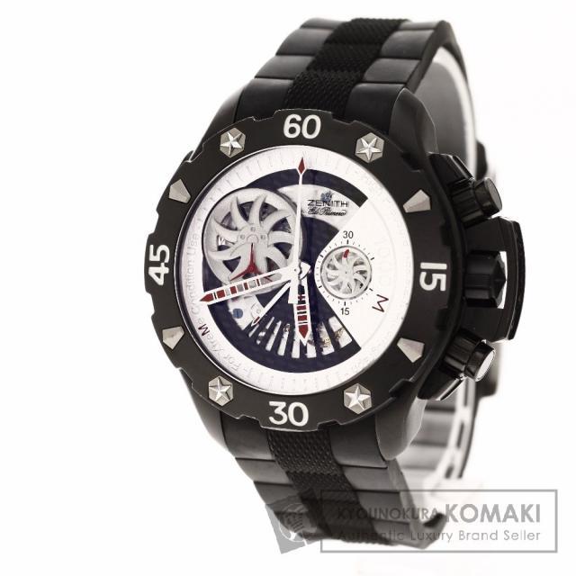 ZENITH 96.0525.4021 デファイ エクストリーム オープン 腕時計 OH済 チタン/ラバー メンズ 中古 ゼニス