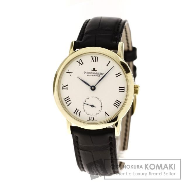 JAEGER-LECOULTRE 155.140.910 ジェントローム 腕時計 K18イエローゴールド/革 メンズ 中古 ジャガー・ルクルト