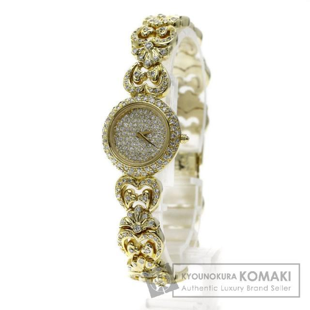 CITIZEN 4-E41375 アゼンダ ダイヤモンド 腕時計 K18イエローゴールド/K18YG レディース 中古 シチズン