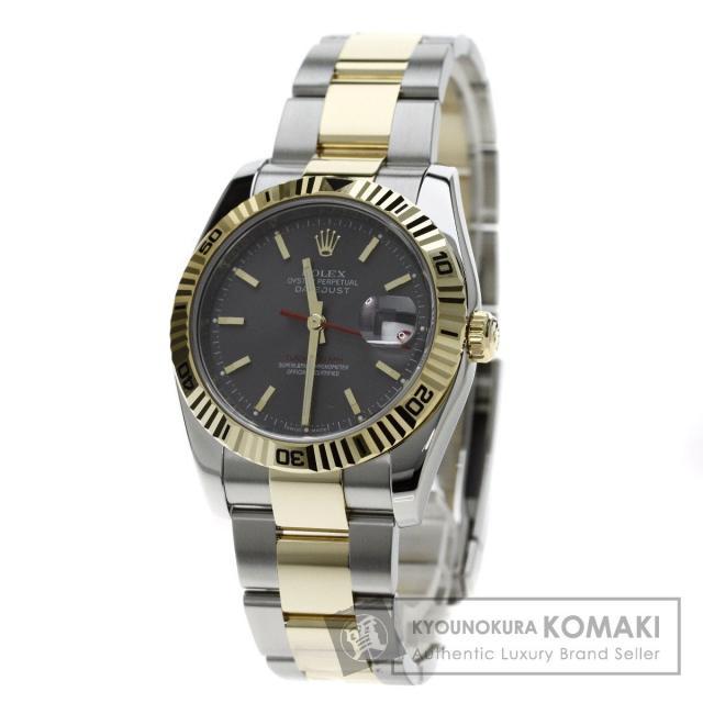 ROLEX 116263 デイトジャスト ターノグラフ 腕時計 OH済 ステンレス/SSxK18YG メンズ 中古 ロレックス