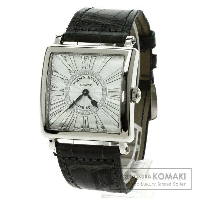 FRANCK MULLER 6002MQZ REL CD1R マスタースクエア 腕時計 K18ピンクゴールド/アリゲーター ボーイズ 中古 フランクミュラー