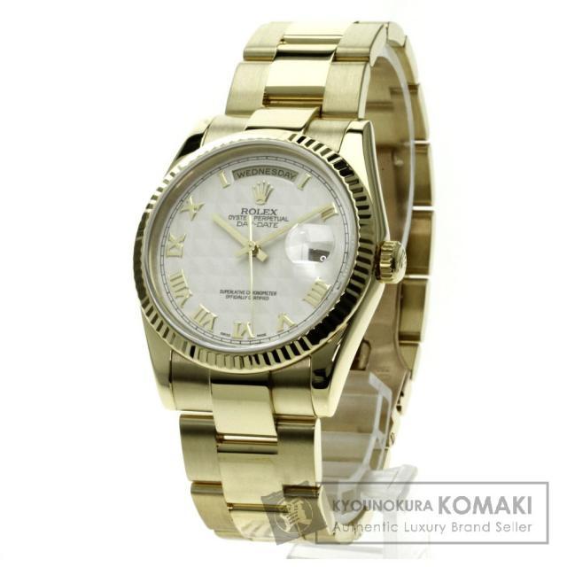 ROLEX 118238 デイデイト 腕時計 K18イエローゴールド/K18YG メンズ 中古 ロレックス