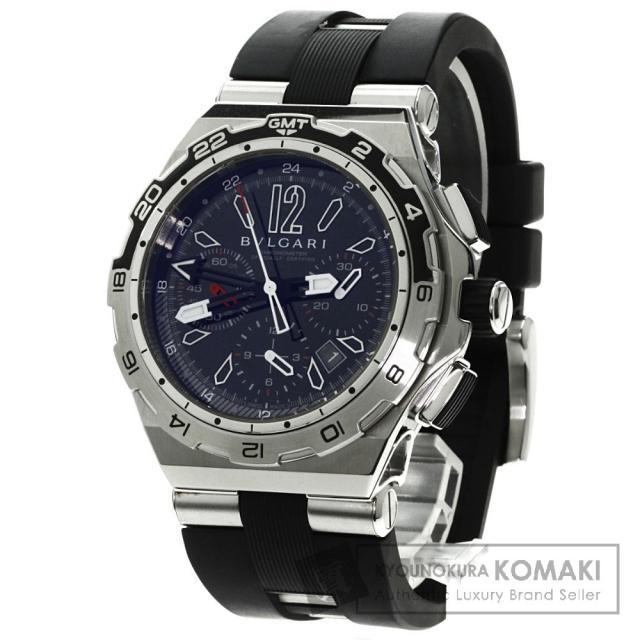 BVLGARI DP45BSTVDCH/GMT ディアゴノ X-PRO 腕時計 ステンレス/ラバー メンズ 中古 ブルガリ