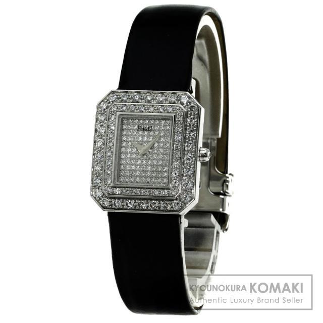PIAGET プロトコール ダイヤモンド 腕時計 K18ホワイトゴールド/エナメル レディース 中古 ピアジェ