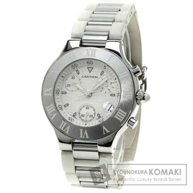 CARTIER クロノスカフ 腕時計 ステンレス/ラバー メンズ 中古 カルティエ