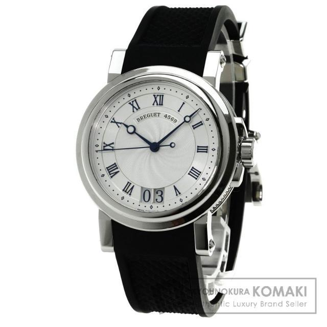 Breguet 5817 マリーン2ラージデイト 腕時計 OH済 ステンレス/ラバー メンズ 中古 ブレゲ