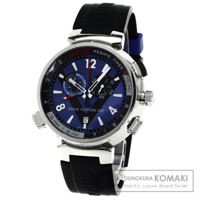 LOUIS VUITTON Q102D タンブール レガッタ 腕時計 ステンレス/ラバー メンズ 中古 ルイ・ヴィトン