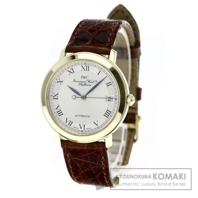 IWC IW3209 ポートフィノ 腕時計 OH済 K18イエローゴールド/アリゲーター メンズ 中古 インターナショナルウォッチカンパニー