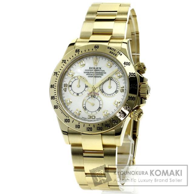 ROLEX 116528NG コスモグラフ 腕時計 K18イエローゴールド/K18YG メンズ 中古 ロレックス